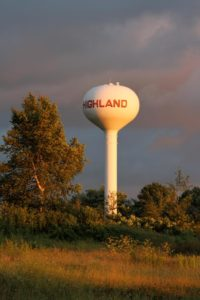 Sunset on the Water Tower - Courtesy of Diane Hebgen 8-11-14